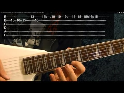 Solo Lesson:  DON'T FEAR THE REAPER by BLUE OYSTER CULT
