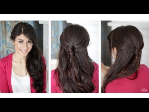 Wrapped Half-Up Half-Down Hairstyle
