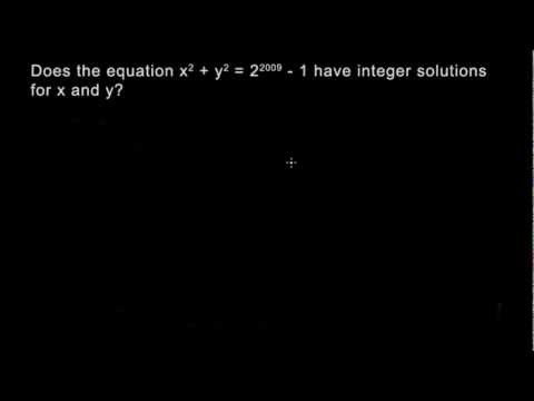 Number Theory 4 - Modular Arithmetic - Integer solutions