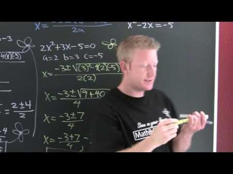 Using The Quadratic Formula.mov