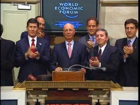 NYSE Closing Bell - Klaus Schwab - World Economic Forum