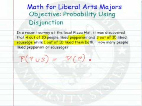 Using Disjunction to find Probability