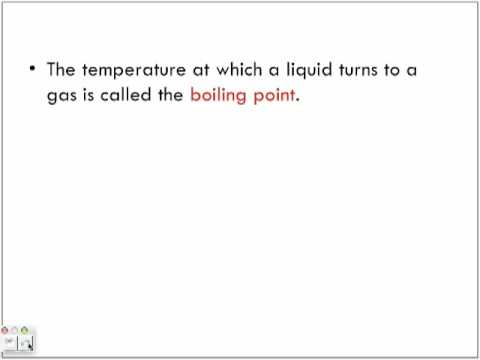 State of Matter and Melting Boiling Point Graph