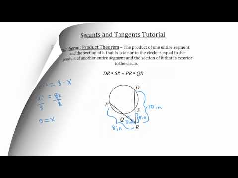 Secants and Tangents PT 1
