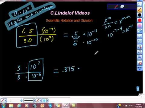 Scientific Notation and Division