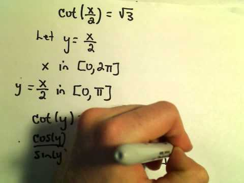 Solving Trigonometric Equations with Coefficients in the Argument - Example 3