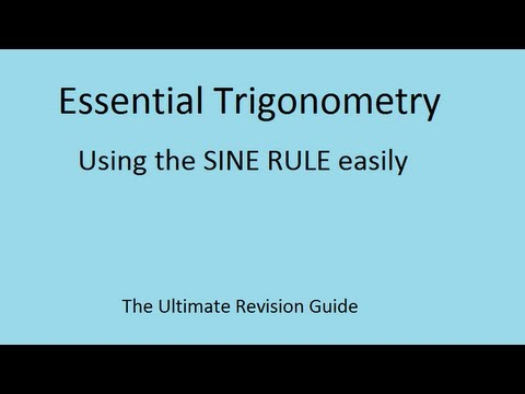 The Sine Rule - GCSE and AS Maths revision video