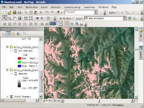 Raster Calculator Demonstration in ArcGIS for Desktop