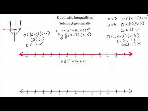 Quadratic Inequalities PT 2