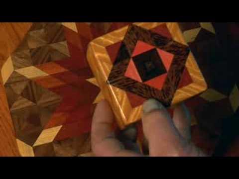 Robin Tucker of Wood Mosaics: satinwood purpleheart box