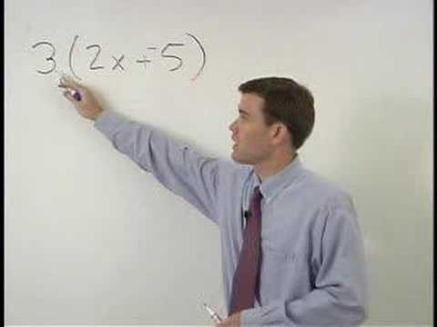 The Distributive Property - YourTeacher.com - Algebra Help