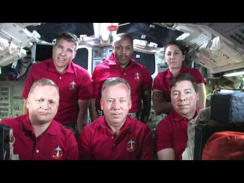 Shuttle Crew Preps for Wednesday Landing