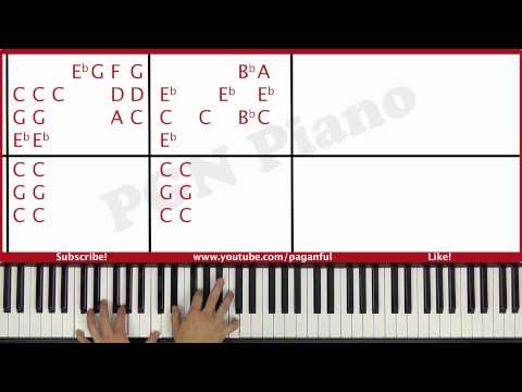 ♫ ORIGINAL - How To Play Skyfall Adele Piano Tutorial Lesson - PGN Piano