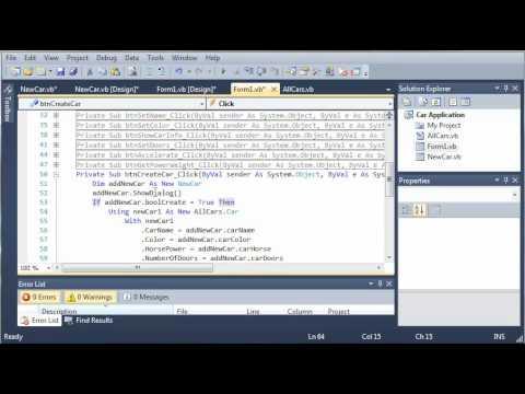 Visual Basic Tutorial - 119 - Car Part 14   Cancelling AddCar