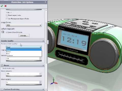 Solidworks 2011 - Introduction to PhotoView 360