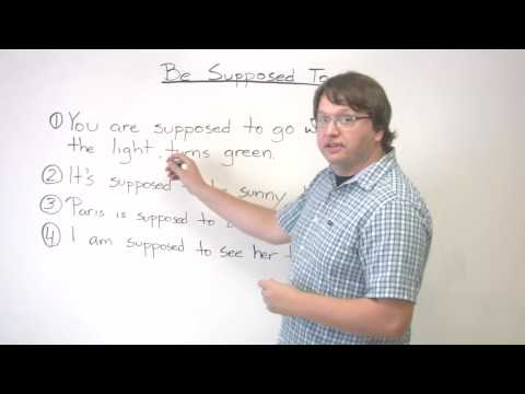 "Speaking English - Expectations - How to use ""supposed to"""