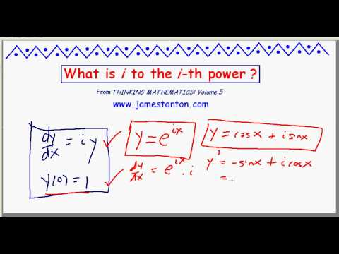 What is i to the i-th power? (JAMES TANTON_MATH)
