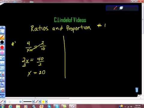Ratios and Proportions pt I