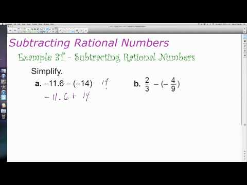 Unit 1 Lesson Topic 2 - Part 2 - A Review of Computation with Rational Numbers