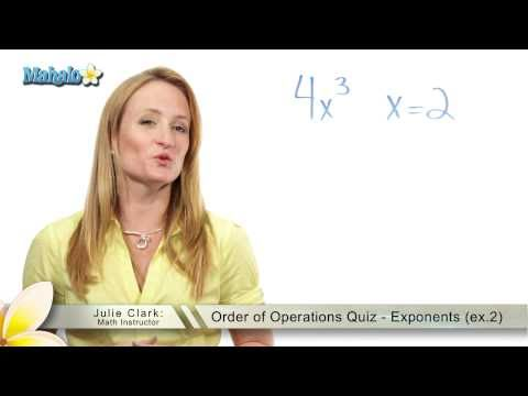 Order of Operations Quiz - Exponents (ex.2)