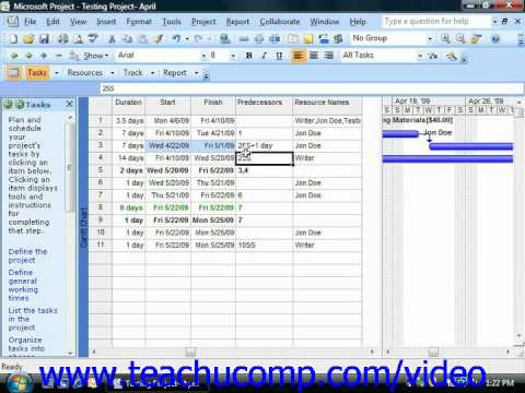 Project Tutorial Using Task Constraints Microsoft Training Lesson 8.2