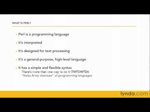 What is Perl? | lynda.com overview