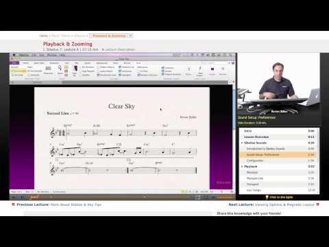 Sibelius: Playback & Zooming