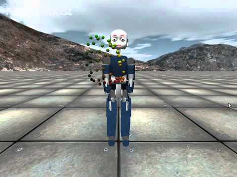 Virtual robot associates numbers with body