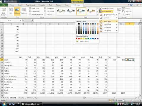 Sparklines for Excel in Microsoft Office 2010.wmv