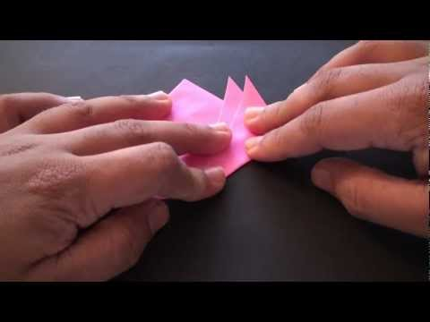 Origami Daily - 063: Lotus Flower Bookmark - TCGames [HD]