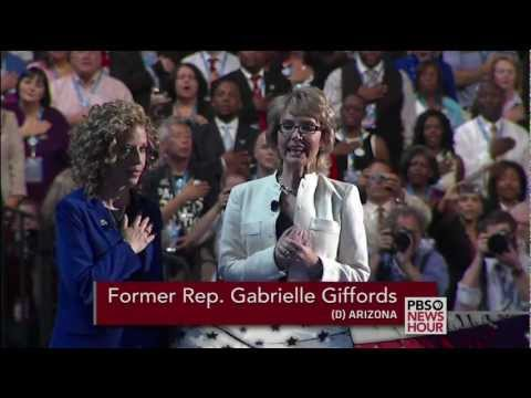 Watch Former Rep. Gabrielle Giffords Recite Pledge of Allegiance at DNC