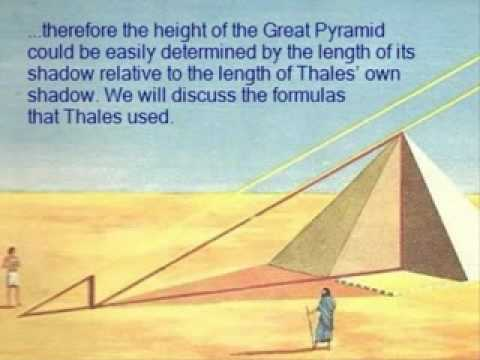 Thales Measures Height of Great Pyramid
