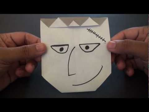 Origami Daily - 414: Halloween Frankenstein - TCGames  [HD]