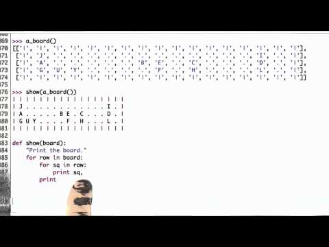 Show And Spell Solution - CS212 Unit 6 - Udacity