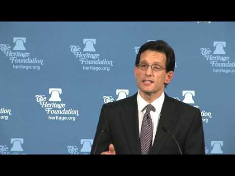 Rep. Eric Cantor on a Pro-Growth Jobs Plan