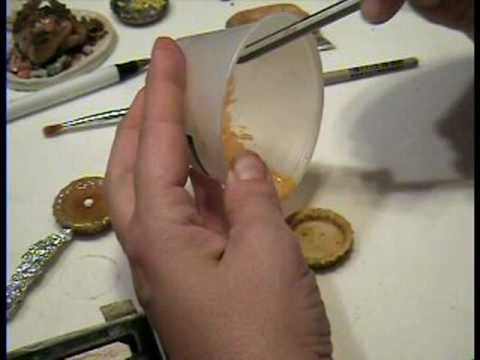 Pumpkin Pie in Polymer Clay Miniature 1:!2 by Garden of Imagination Thanksgiving Dinner How To Make