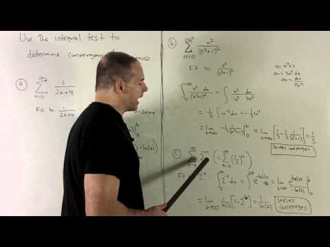 The Integral Test for Series 2 - More Examples