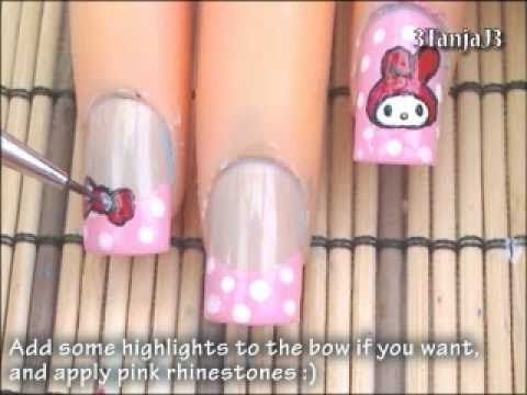 Sanrio #7: *My Melody* Nail Art Design Tutorial