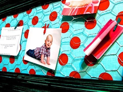 Shabby Chic Memo Board Tutorial