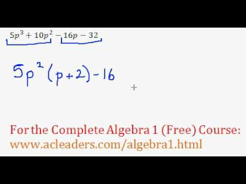 Polynomials - Factoring by Grouping Question #3