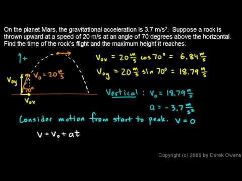 Physics 3.5.4d - Projectile Practice Problem 4