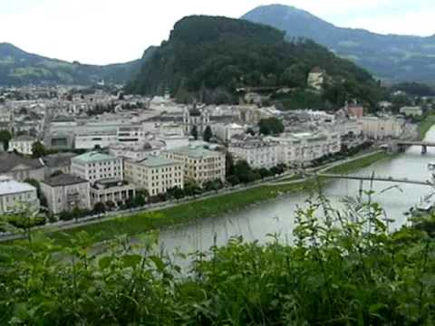 View and Sound of Bells from Monchsberg, Salzburg, Austria