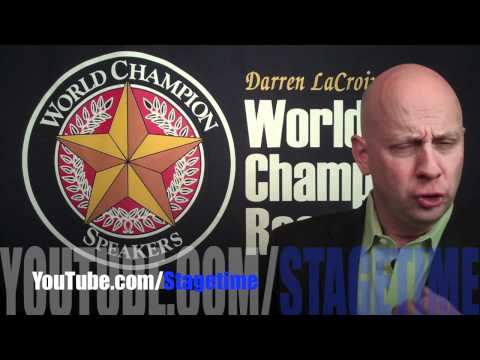 "Welcome to ""Stage time"" Darren LaCroix's YouTube Channel"