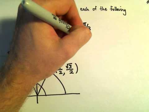 Solving a Basic Trigonometric Equation, Example 1