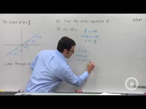 Precalculus - Lines in Polar Coordinates