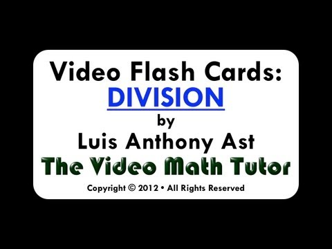 Video Flash Cards: Division by 4
