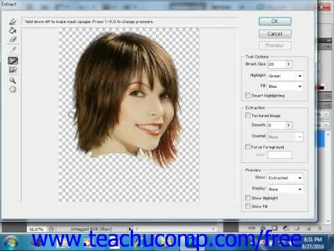 Photoshop CS5 Tutorial The Extract Command Adobe Training Lesson 7.10