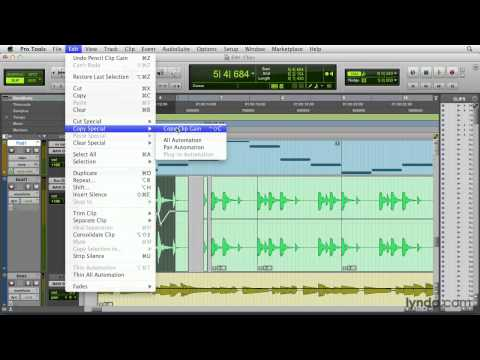 Pro Tools tutorial: The Clip Gain Line feature | lynda.com