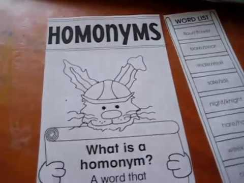 Preschool-Language. Homonyms