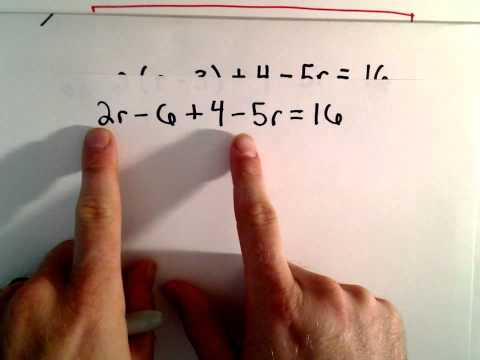 Solving Multi - Step Linear Equations , Another Example